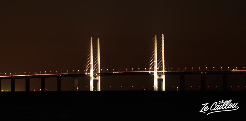 Le pont qui relie Copenhague au Danemark et Malmö en Suède.