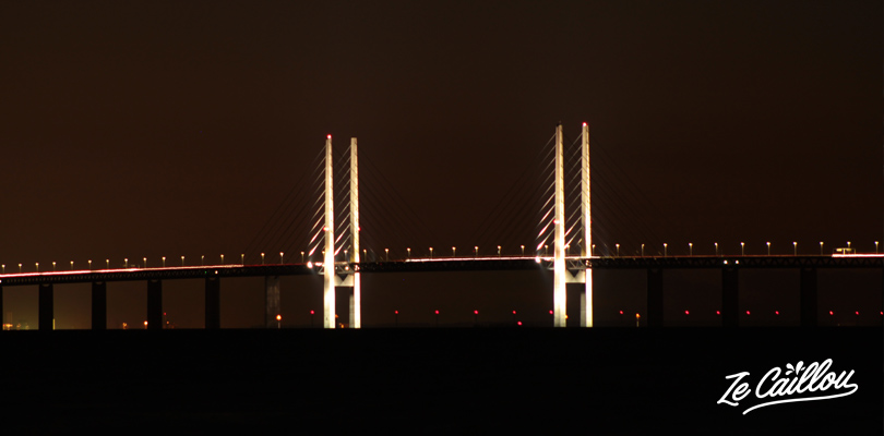 A view of the Malmo bridge that connect to Copenhagen