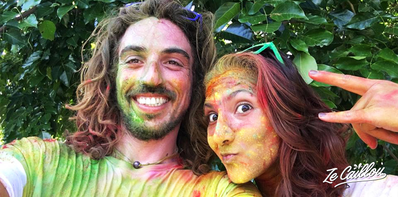 Have fun with your love, being totaly covered by colored powder during the Rainbow Run.