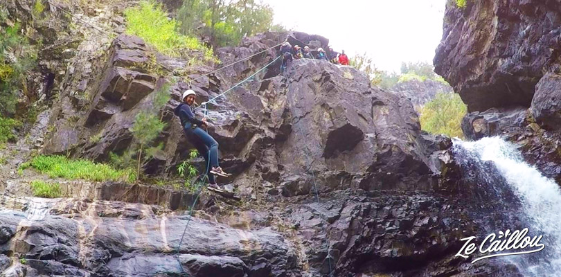 Test some zipline, abseiling, jumps and natural slides at the cirque de salazie.