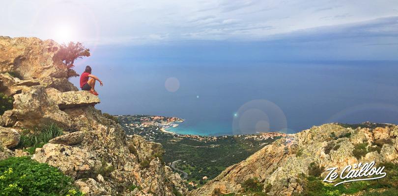 Le Mont Occi, au dessus du village perdu d'Occi dans la ville de Lumio en Haute Corse.