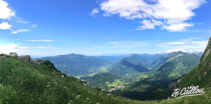 Magnifiques panoramas lors de la randonnée du Mont KRN au lieu du mont Triglav.