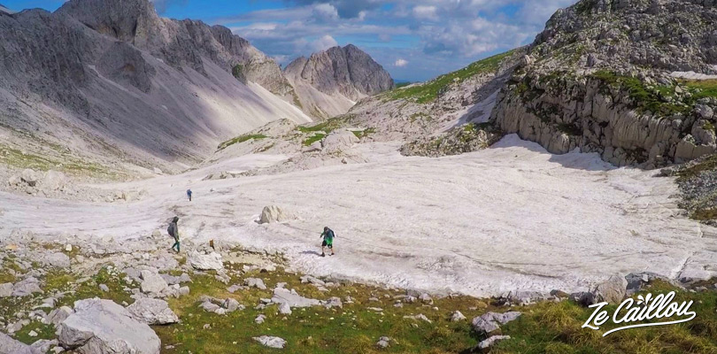 There was still snow in June during the hike of Mount KRN instead if Mount Triglav walk.