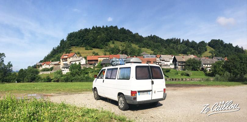 Trouver des spots pour le campervan en Slovénie était assez facile.