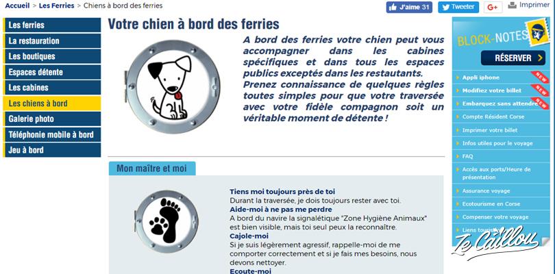 Cherchez la rubrique ferry avec un chien ou animaux lors de la reservation d'un ferry en Europe avec un animal.