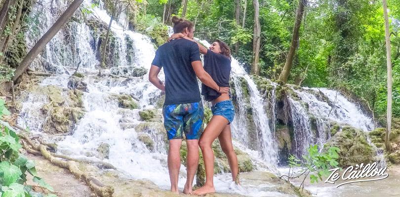 Les cascades du parc de KRKA proche de Split en Croatie.