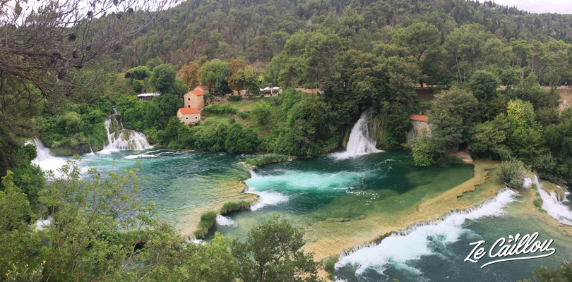 Lakes and waterfalls...beautiful KRKA landscapes close to Split in Croatia.