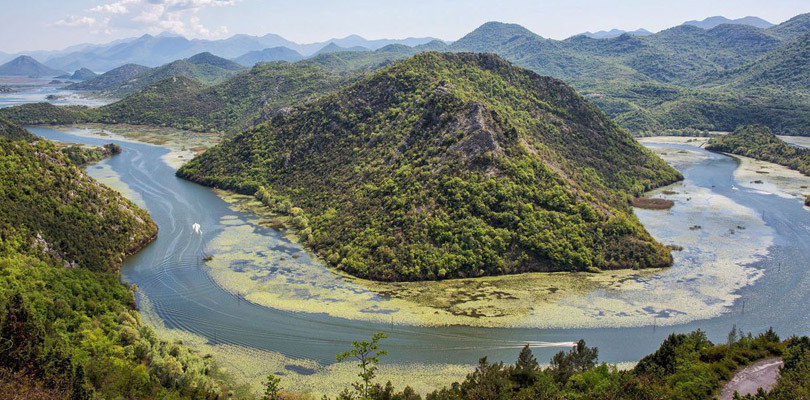 View on the Skadar lake, from the Pavlova Strana viewpoint in south Montenegro.