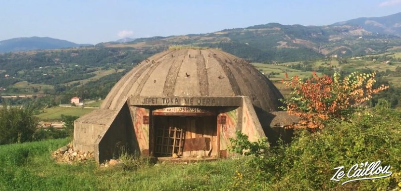 Des milliers de bunkers ont été construits en Albanie par le président Enver Hoxha.