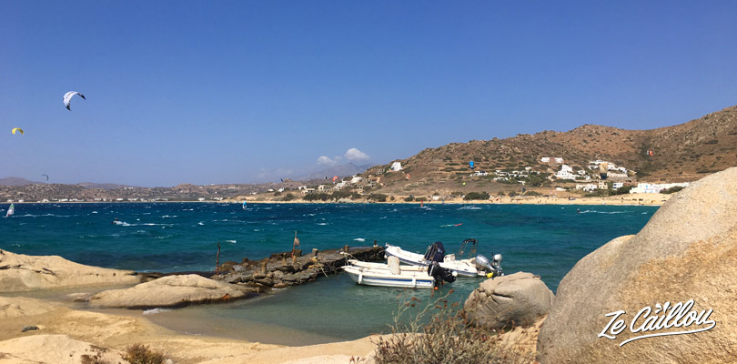 Look at people or try kitesurf on the west coas of Naxos, looks so nice!