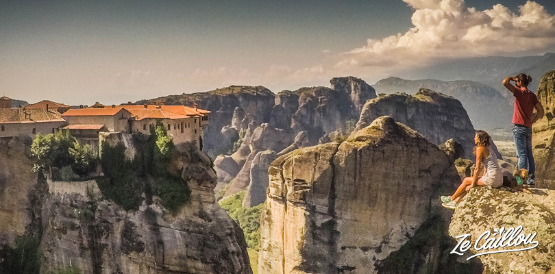 Should not miss in Greece: wonderful view on the Varlaamn monastery in Meteora.