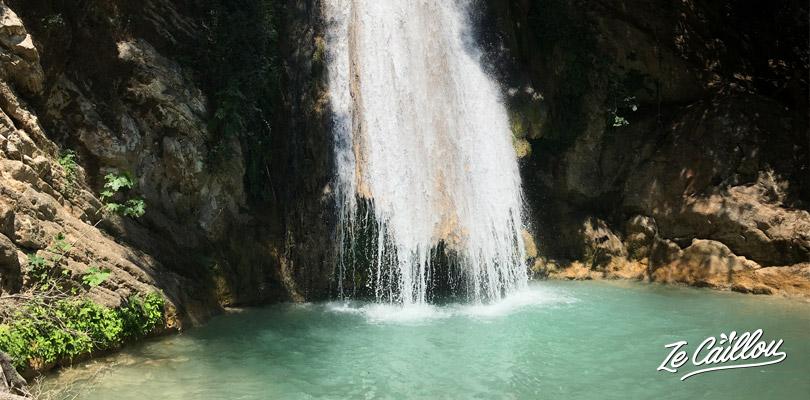 Neda waterfalls, nice place with very clear water, perfect to get fresh air in Greece during summer.