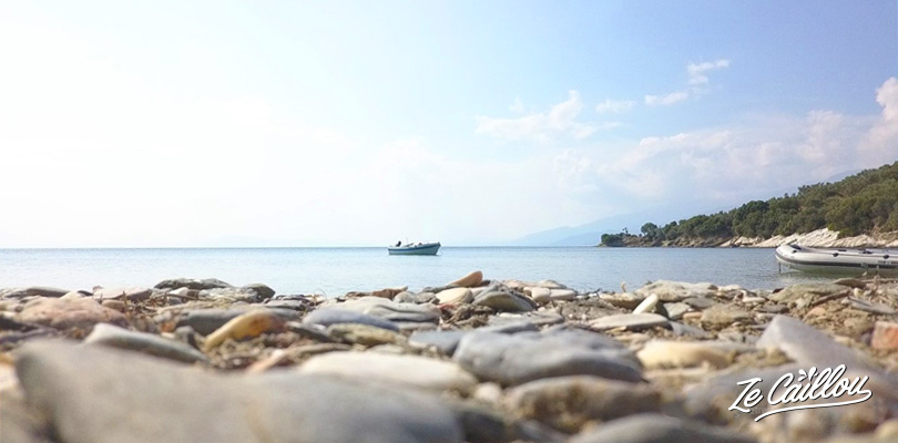 Amazing beaches in Pelion, during our road trip in Greece with a van.