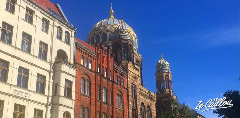 La nouvelle Synagogue de Berlin, un très beau bâtiment à voir dans la capitale Berlinoise.