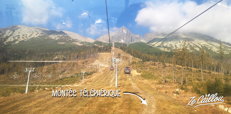 Le chemin à emprunter si vous ne prenez pas le téléphérique pour monter à Skalnate Pleso.