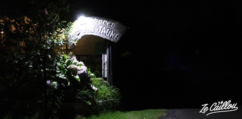 Entrance of the cabaret Pat'Jaune at the 23rd kilometers at la Plaine de Cafres.