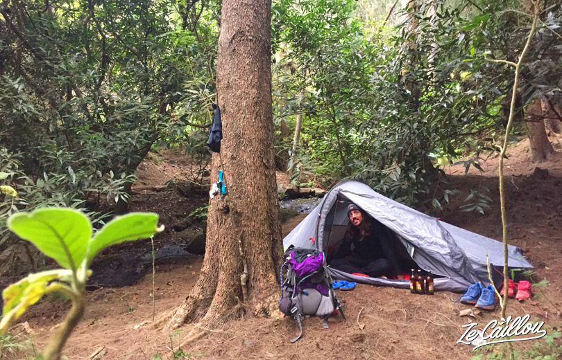 End of our GRR2 Day 4, from Cayenne to Roche Plate. Here our camping spot!