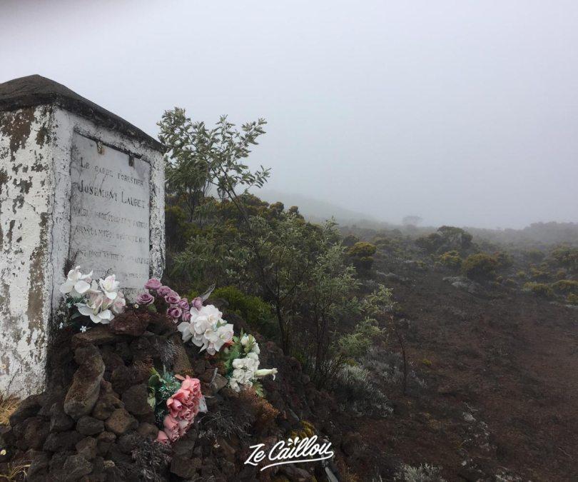 Mémorial Josemont Lauret au Volcan, pendant la rando Bourg Murat Volcan.