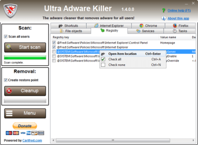 Ultra Adware Killer 9.6.1.0 crack