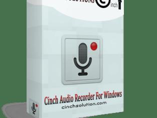Cinch Audio Recorder 4.0.2 Serial Key Code