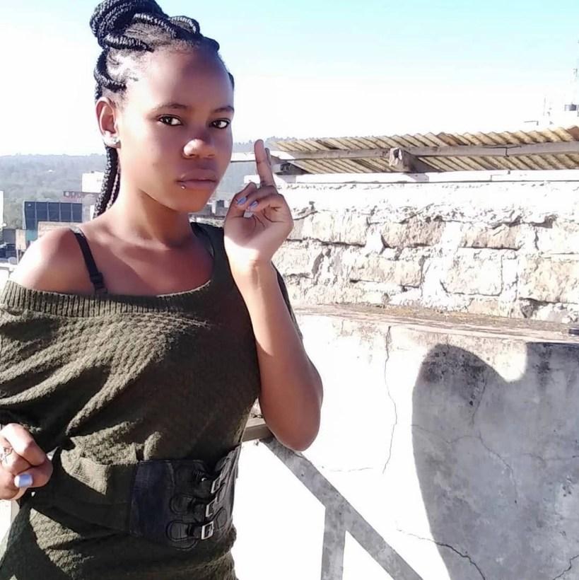 Chebet Pinky Banda pose for a shot