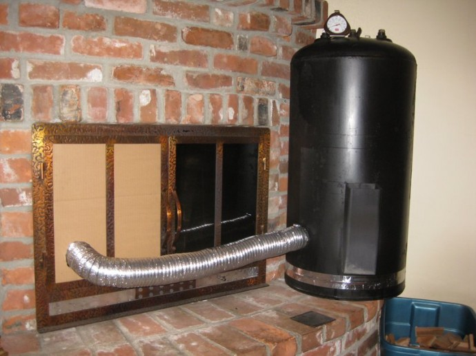 diy wood heater
