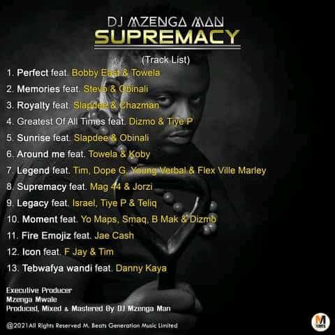 DJ Mzenga Man - Supremacy Full Album Tracklist
