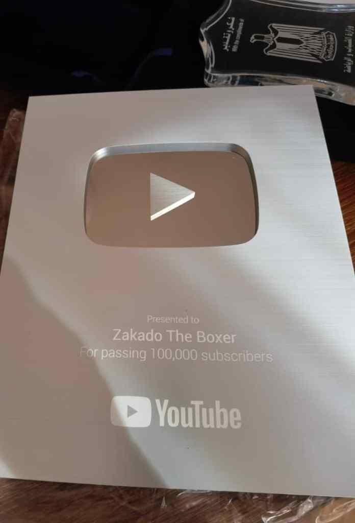 Zakado Becomes Second Zambia To Receives A YouTube Silver Creator Award