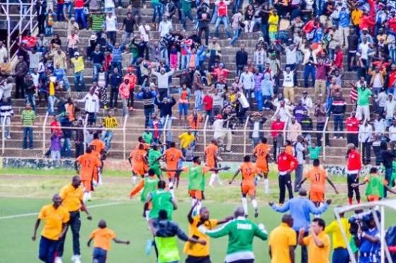 before Tiger anaka here they celebrate against Nkana