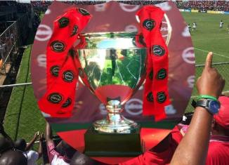 Trophy of the re-branded ABSA CUP ZAMBIA