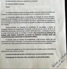 documento do mp sobre a contratação de bandas