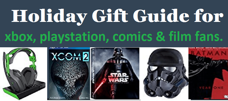 xbox, playstation, comics and movies gift guide
