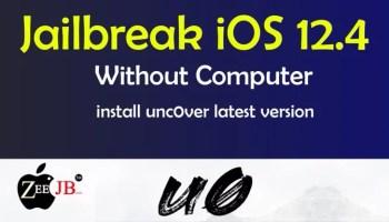 iOS 12.4 Jailbreak has been released.Install unc0ver jailbreak without using computer.