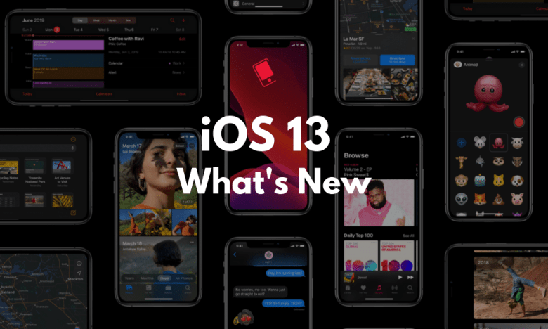 Dark Mode Swipey Keyboard Camera Portrait lighting for photos A new privacy feature Sign in with Apple Siri's new voice Download Manager in Safari New Volume HUD HomePod Dual-SIM Support Memoji avatars come to Messages A revamped Find My iPhone app that merges Find My iPhone and Find My Friends