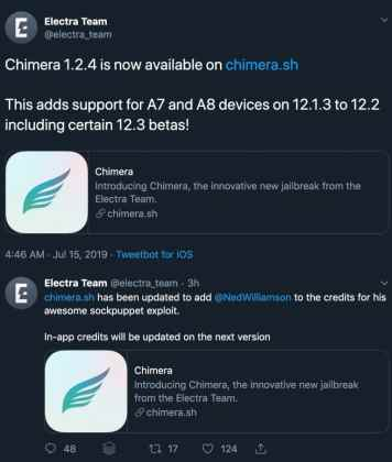 Now You can easily install Chimera jailbreak for iOS 12.3.