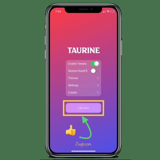 Taurine Jailbreak for iOS 14 - iOS 15