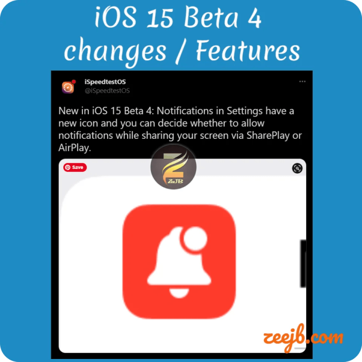 IOS 15 beta 4 notification settings have a new icon, iOS 15 beta 4 New Changes
