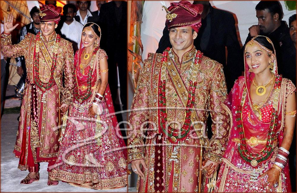 Vivek Oberoi Wedding Photos Zeenat Style