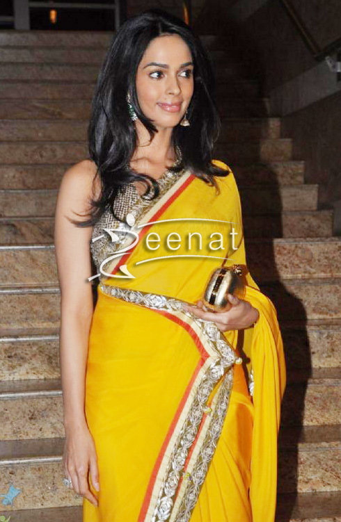 Mallika Sherawat In Traditional Saree Zeenat Style