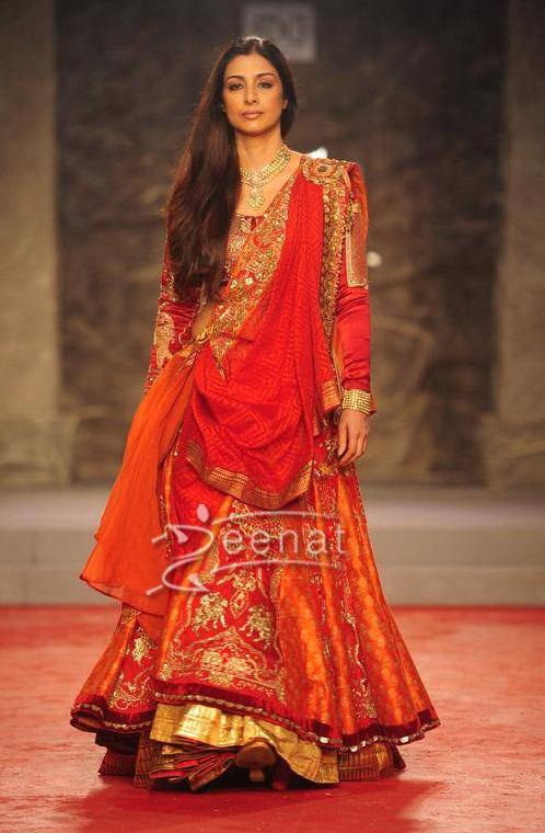 Tabu In Anju Modi Lehenga Choli Zeenat Style
