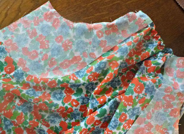 pinning pocket facing onto skirt