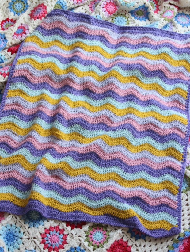A new crochet ripple baby blanket.