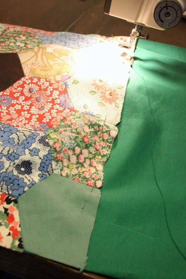 Getting out the sewing machine. Patchwork knitting bag.