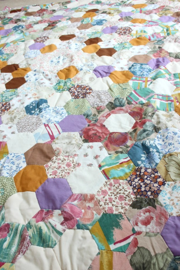 Nanna's patchwork blanket.
