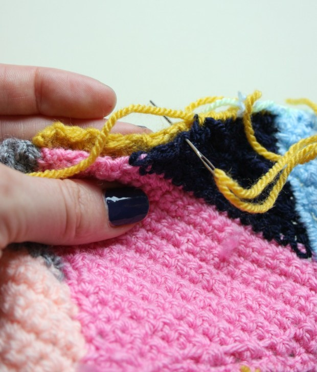 sewing-crochet-squares-together