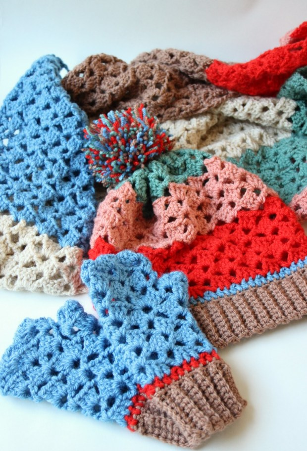 my-new-designs-hat-scarf-and-crochet-wrist-warmers