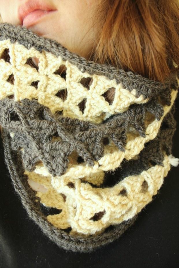 cosy-monochrome-crochet-cowl-triangle-infinity-scarf