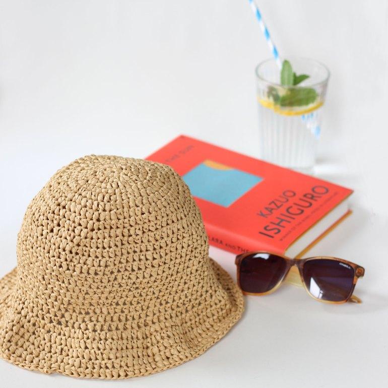 A crochet hat ready for summer sun