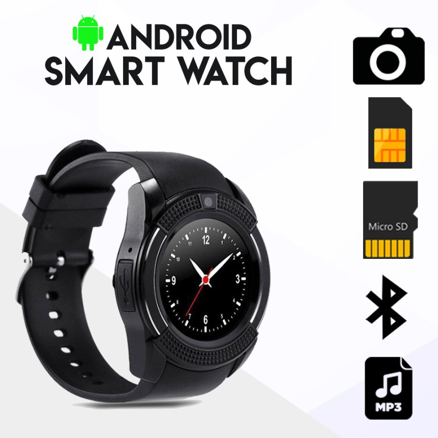 V8 Android Smartwatch with Sim Card Slot - Online Shopping in Dubai, Abu  Dhabi , United Arab Emirates