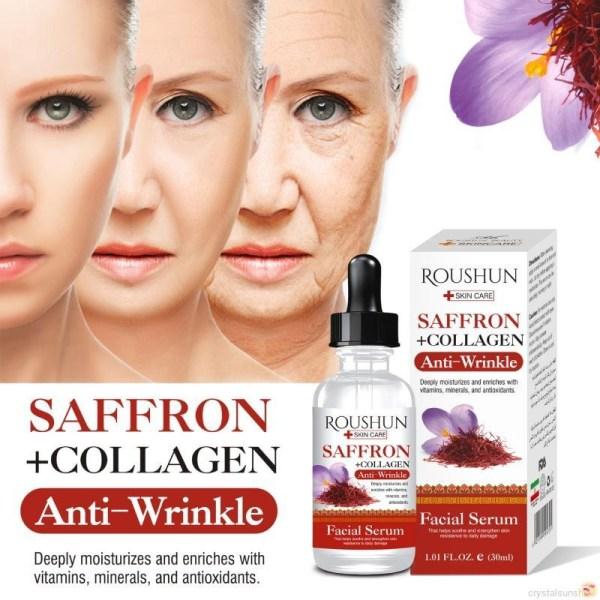 Saffron Serum Moisturizing Firming Skin Fine Lines Face Anti-Aging Essence